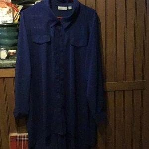 Dark Blue Tunic Blouse